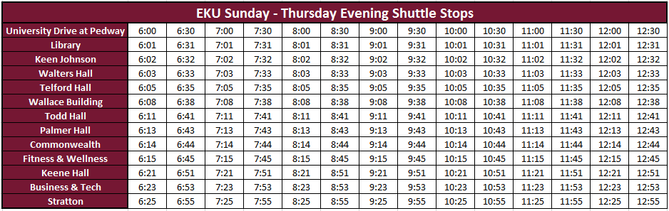 Where can you find shuttle service schedules?